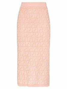Fendi FF motif pencil skirt - PINK