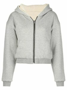 John Elliott reversible cropped hoodie - Grey