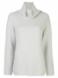John Elliott oversized draped-neck jumper - Grey