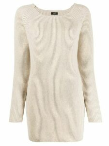 Joseph ribbed cashmere jumper - NEUTRALS