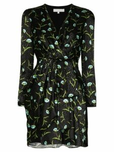 Borgo De Nor ruffled jacquard mini dress - Black