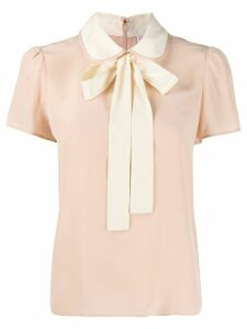 RedValentino Peter Pan collar blouse - NEUTRALS