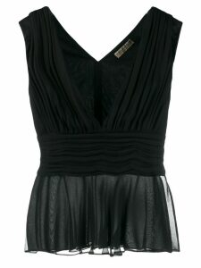 Emilio Pucci draped sleeveless blouse - Black