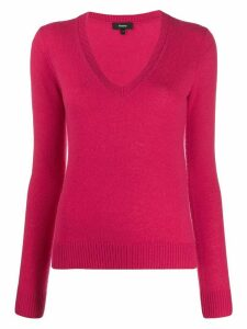 Theory plunge neck jumper - PINK
