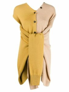 Marni wrap-around sleeves knitted top - NEUTRALS