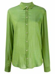 Forte Forte My Shirt crinkle shirt - Green