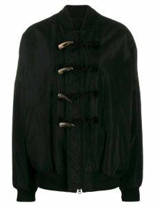 Yohji Yamamoto oversized-fit bomber jacket - Black