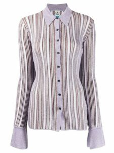 M Missoni glittery striped knitted shirt - PURPLE