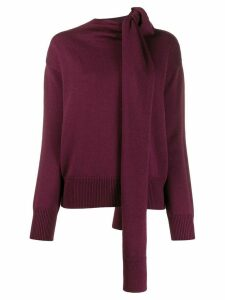 Nina Ricci wrap neck jumper - PURPLE