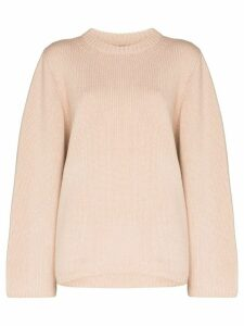 Toteme Marans oversized merino and cashmere-blend jumper - NEUTRALS