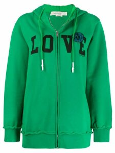 Golden Goose oversized 'LOVE' zip-up hoodie - Green