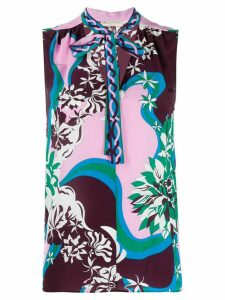 Emilio Pucci abstract-print tank top - PINK