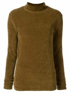 Muller Of Yoshiokubo corduroy-style mock-neck jumper - Yellow