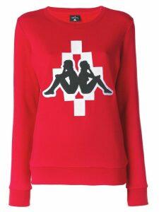 Marcelo Burlon County Of Milan Marcelo Burlon x Kappa sweatshirt - Red