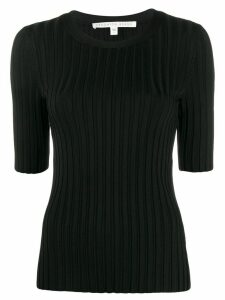 Veronica Beard Dillon ribbed top - Black