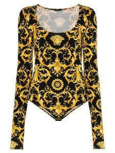 Versace baroque-print bodysuit - Black
