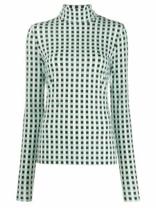 Proenza Schouler White Label Multicolor Gingham Jersey Long Sleeve