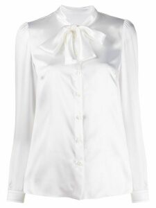 Dolce & Gabbana pussybow collar blouse - White