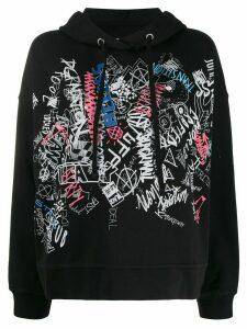 Maison Margiela graffiti print hoodie - Black