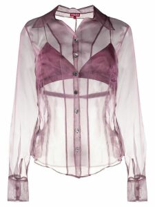 Staud organza buttoned shirt - Purple