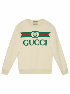Gucci logo printed sweatshirt - White