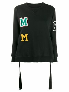Mm6 Maison Margiela logo patches sweatshirt - Black