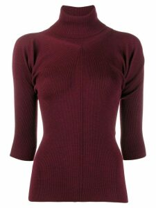 MRZ roll neck sweater - Red
