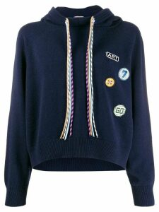 MRZ knitted hooded jumper - Blue