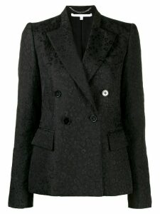 Stella McCartney leopard double breasted blazer - Black