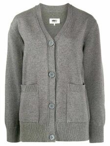 Mm6 Maison Margiela chunky-knit cardigan - Grey