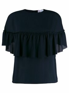 RedValentino shortsleeved ruffled T-shirt - Blue