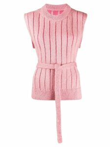 Mm6 Maison Margiela sleeveless jumper - PINK