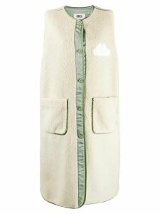 Mm6 Maison Margiela textured gilet - NEUTRALS