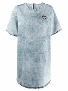 Mm6 Maison Margiela acid-wash denim dress - Blue