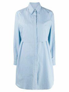 Mm6 Maison Margiela pinstripe shirt dress - Blue