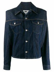 Mm6 Maison Margiela cropped denim jacket - Blue