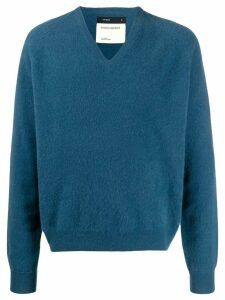 Frenckenberger oversized V-neck jumper - Blue