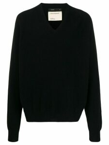 Frenckenberger oversized V-neck jumper - Black