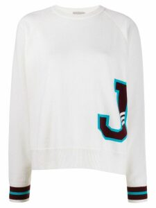 MRZ knitted J jumper - White
