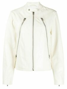 Mm6 Maison Margiela zip detail jacket - White