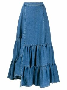 Mm6 Maison Margiela denim maxi skirt - Blue
