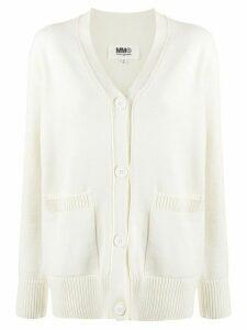 Mm6 Maison Margiela chunky-knit cardigan - White