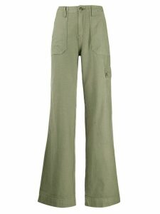 FRAME flared cargo trousers - Green