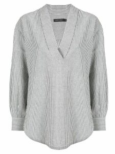Nobody Denim Popover striped tunic shirt - Grey