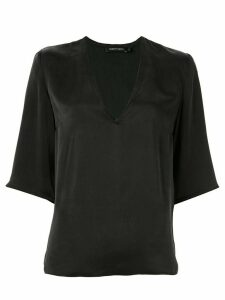 Nobody Denim deep v-neck blouse - Black