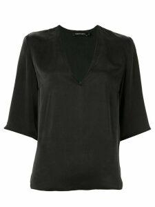 Nobody Denim deep v-neck blouse - Black