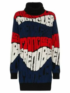 Moncler Grenoble logo intarsia knit jumper - Black