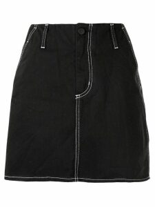 Nobody Denim Nero a-line denim skirt - Black
