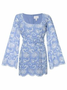 Alice McCall Cloud Obscurity embroidered mini dress - Blue