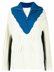 Zadig & Voltaire colour blocked knitted jumper - White
